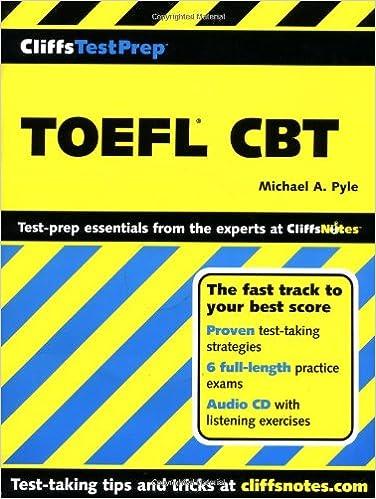 CliffsTestPrep TOEFL CBT: Michael A. Pyle: 9780764586095: Amazon ...