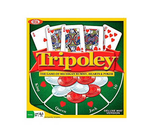IDEAL Tripoley Deluxe Mat Version Card Game