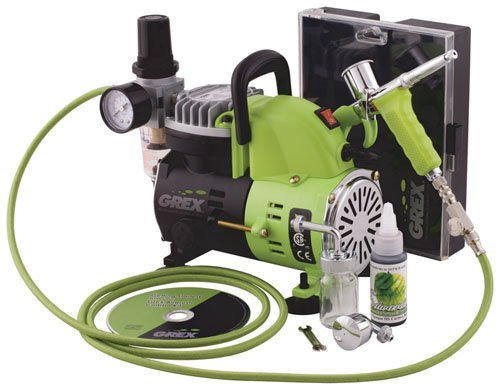 Grex GCK01 Combo Kit with Genesis.XT and AC1810-A Air Compressor Airbrush by Grex Airbrush