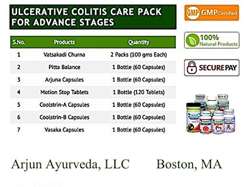 Ulcerative Colitis Care Pack For Advance Stages - Ayurvedic Remedy by Planet Ayurveda (in USA) by Planet Ayurveda