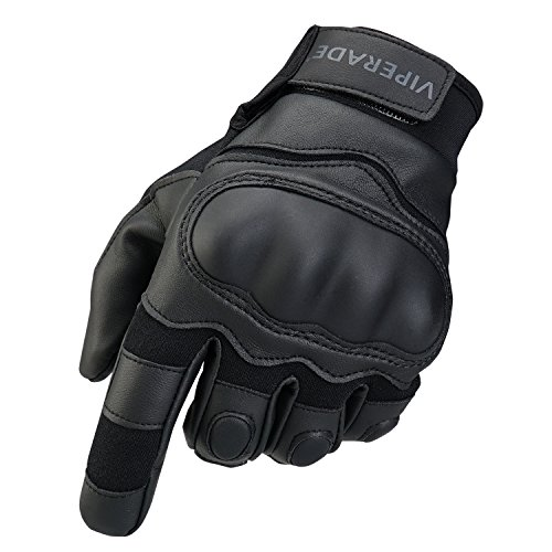 Viperade Touch Screen Mens Tactical Gloves|Military Rubber Hard Knuckle Outdoor Gloves, Heavy Duty Fingerless/Full Finger Cycling Motorcycle Gloves |Shooting Airsoft Hunting Cycling Gloves (Black, M)
