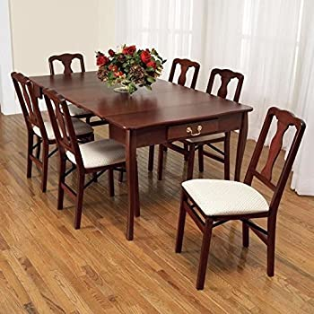 Amazon.com - Convertible Dining Table Wood Contemporary ...