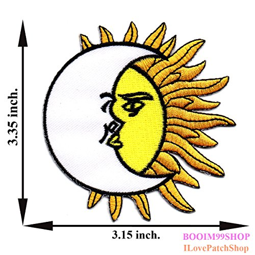 Sun and Moon Animation Iron on Patch T-shirt Cap Jeans Bag