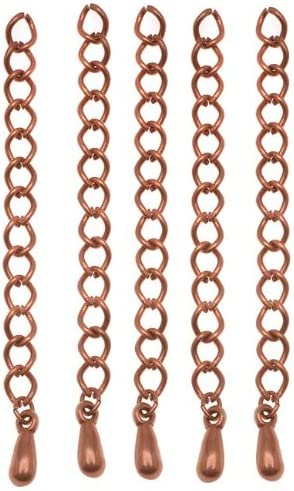 the cheaper The more 10-50 Pieces Copper Extender Chain 5 cm with drop dangle bead Teardrops Extension Chain Findings