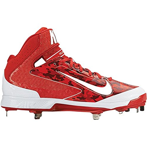 (Nike Mens Huarache Camo Pro Mid Metal Baseball Cleats)