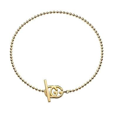 Gucci bracciale running oro giallo 18kt 18cm logo YBA356956001018   Amazon.it  Abbigliamento 1ef22eb3103c