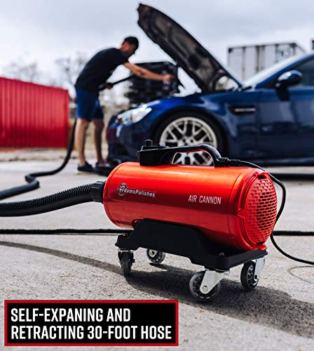 Adam's Air Cannon Car Dryer - High Powered Vehicle Blower Safely Dries Your Entire Vehicle After Car Wash & Before Wax Application - Touch-Less, Pro Drying Detailing Tool 8hp Power (Air Cannon)