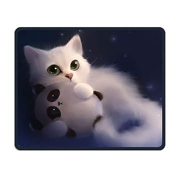 Yanteng Cojín de ratón inalámbrico, Cute Cat Panda Feline ...
