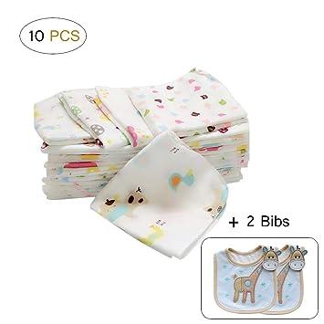 Baby Burp Cloth 6-layer Washed Bib Saliva Towel for Infants Color Random