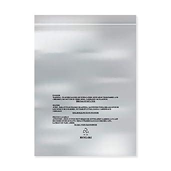 Paquete de 100 bolsas de plástico transparentes de tamaño ...