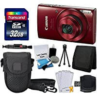 Canon PowerShot ELPH 190 IS Digital Camera (Red) +...