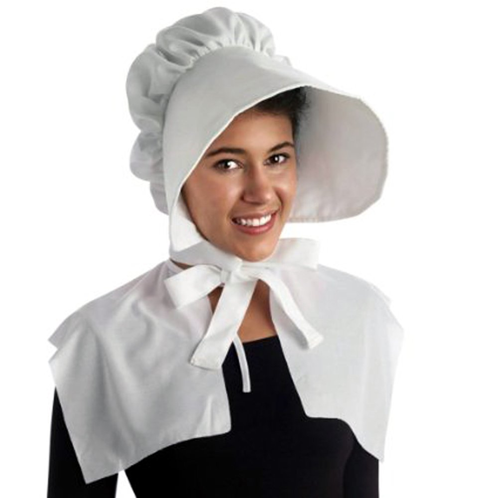 Pilgrim Bonnet White Costume