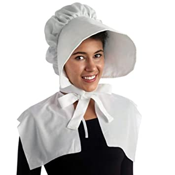 71f2344be Pilgrim Bonnet White Hat Party Costume (1/pkg) Pkg/1