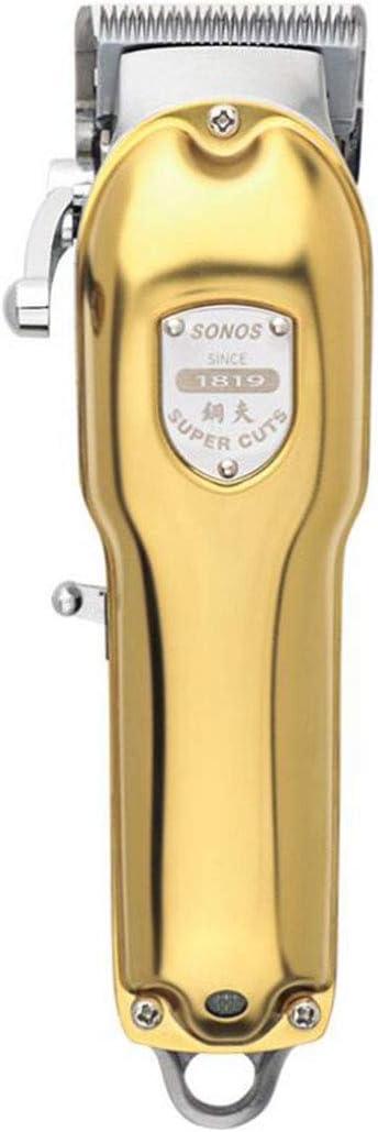 Pelo profesional Clipper todo metal Maquinilla GN-2020 del pelo condensador de ajuste eléctrico 2500mAh color dorado de corte de pelo sin cuerda,A