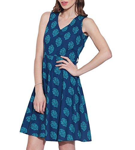 Vêtements pour femmes Robe en coton imprimé, lavable en machine, W-CPD32-1629, Taille-32 pouces