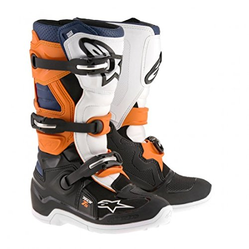 Alpinestars Tech 7S Youth Motocross Boots - Black/Orange - Youth 3 ()
