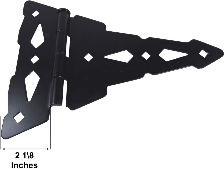 Jake Sales Wood Gate T-Hinges Wood Fence Hinge Gate Kit 8 T-Gate Hinges 1 Pack Wood Gate Hardware Strap Hinges