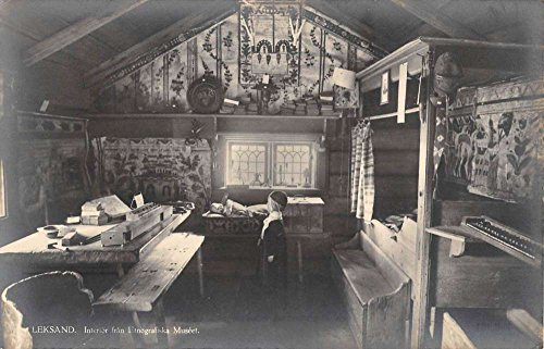 Leksand Sweden Ethnographic Museum Interior Real Photo Antique Postcard K85890 (Sweden Real Photo)