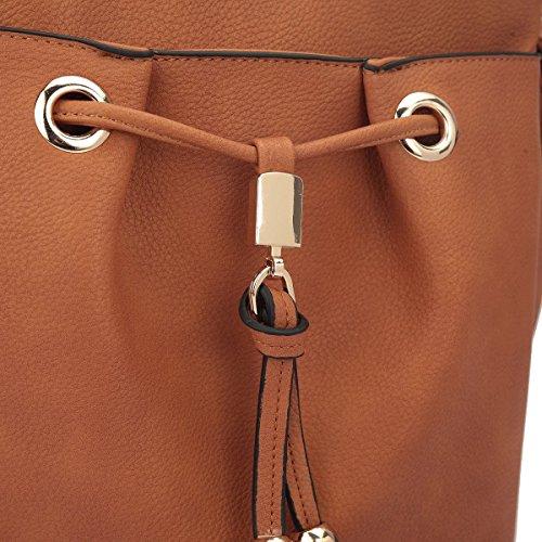 Purses Medium Tassel Messenger Crossbody Double Bags Women Pockets brown Ladies Bag Lightweight With 2588 Shoulder TEq7xH