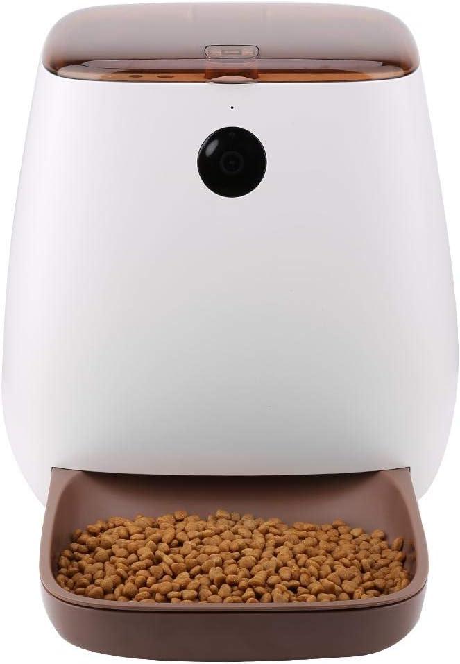 Bewinner Feeder for Pets, Distribuidor automático de Alimentos para Gatos y Perros 3L con cámara remota Inteligente App Feeder para Perros/Gatos Máquinas expendedoras de Alimentos(EU)