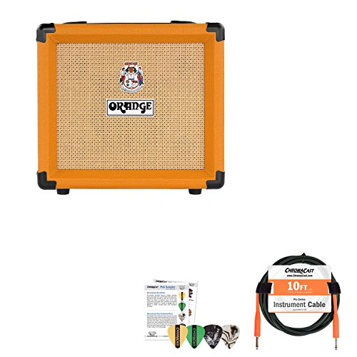 Orange Crush 12 Single Channel Combo Guitar Amp with Cable and Pick Sampler by GoDpsMusic