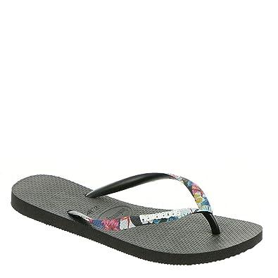 9cb46c753 Havaianas Women s Slim Tropical Straps Sandal Black 35-36 M Bra