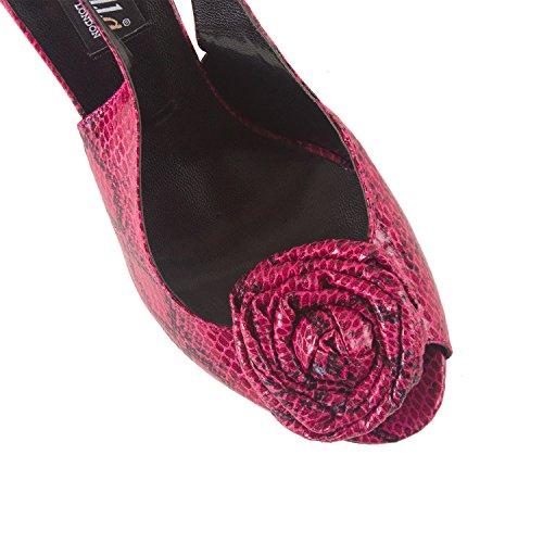 FARFALLA Flower Embellished Sandals (Maroon, 4UK/37EU)