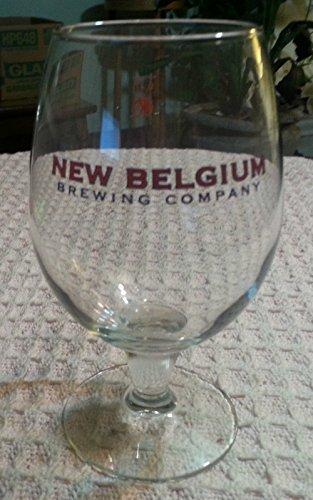 - New Belgium Brewing Company Footed Stemmed Beer Glass Fort Collins Colorado 0.4L