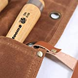 Waxed Canvas Tool Roll Up Bag,Chisel Carrying