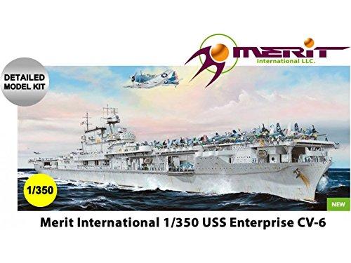 Merit International MRT65302 1:350 Merit USS Enterprise CV-6 [MODEL BUILDING KIT] by (Uss Enterprise Cv 6 Model Kit 1 350)