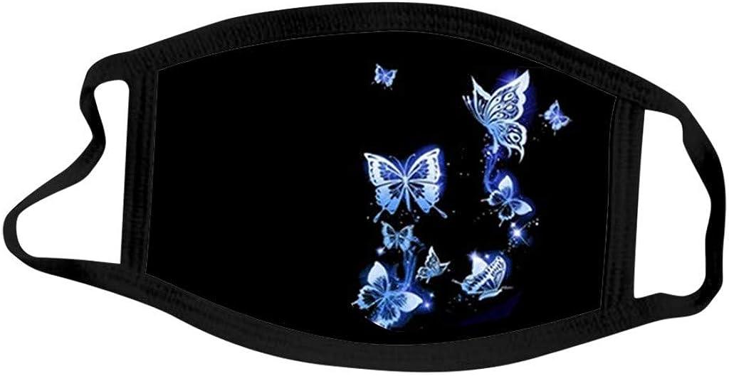 BIBOKAOKE 1//5 St/ück Damen Mundschutz mit Motiv Schmetterling Baumwolle Stoff Waschbar Atmungsaktiv Staubdichte Mund und Nasenschutz Halstuch Bandana