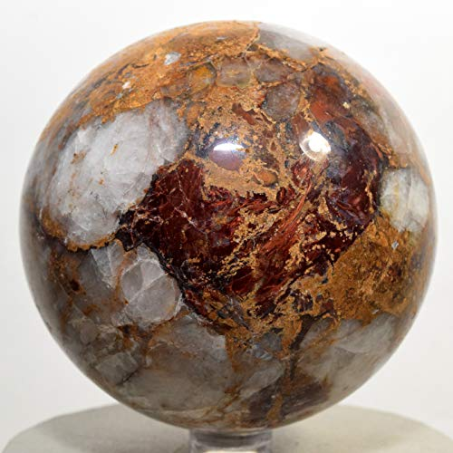 78mm Orange Blue Red Pietersite Sphere Natural Chatoyant Mineral Ball Chalcedony Crystal Polished Gemstone - Namibia + Stand