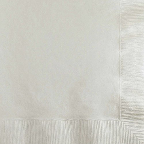 Creative Converting Paper Napkins, 3-Ply Beverage Size, White Color, 50-Count Packages (Pack of 5) 3 Ply Paper Napkin