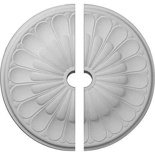 Ekena Millwork CM31GO2 31 5/8''OD x 3 5/8''ID x 1 7/8''P Gorleen Ceiling Medallion, Fits Canopies up to 3-5/8'', 2 Piece by Ekena Millwork