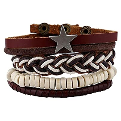XIAOHA Men S Bracelet Leather Anchor Bracelets amp Amp Bangle Men Multilayer Bead Wristband Vintage Handmade Bracelet Estimated Price £15.99 -