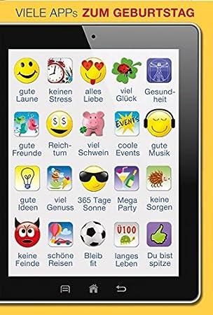 A4 Xxl Geburtstagskarte Viele Apps Gute Laune Keinen Stress Gute