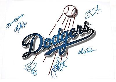 Los Angeles Dodgers Multi Signed 11x14 Photo 6 Autographs COA