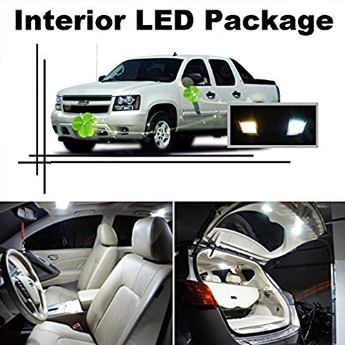 cciyu 8 Pack White LED Bulb LED Interior Lights Accessories Replacement Package Kit Replacement fit for 2005-2015 Toyota Tacoma