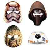 Unique 48571 Star Wars Party Masks, 8-Count
