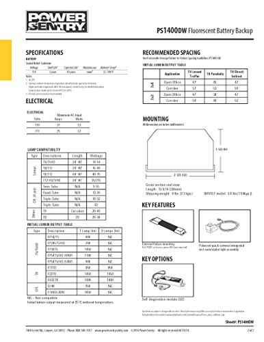 lithonia lighting ps1400dw m8 power sentry 1400 lumen quick rh amazon com