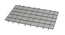 Floor Grid for Dog Crate | Elevated Floor Grid Fits MidWest Folding Metal Dog Crate Models 1536U, 1536DDU, 436, 436DD