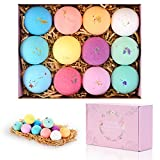 Bath Bombs Gifts Set 12 Pack by Cicinady - with Essential Oil, Coco Butter Great For Dry Skin Moisturize, Relaxation Yoga and Fun - Premium Handmade Spa Bath Bomb for Kids Girlfriend Women Wife Girls