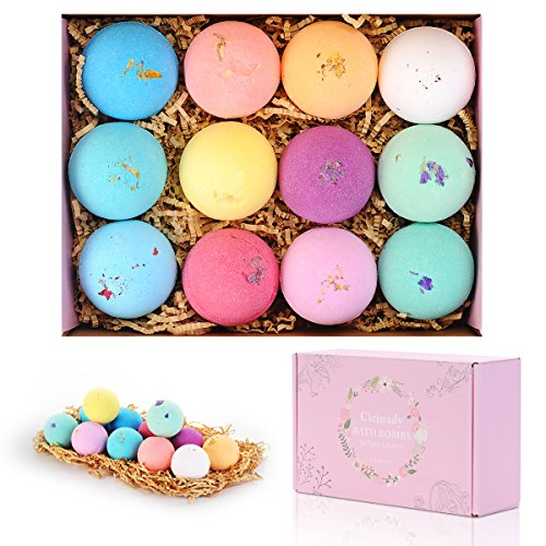 Bath Bombs Gifts Set 12 Pack by Cicinady Only $11.99
