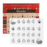 D-FantiX Christmas Countdown Calendar 2018 Women Girls Jewelry Advent Calendar DIY Bracelet Necklace 22 Charms Collection Set