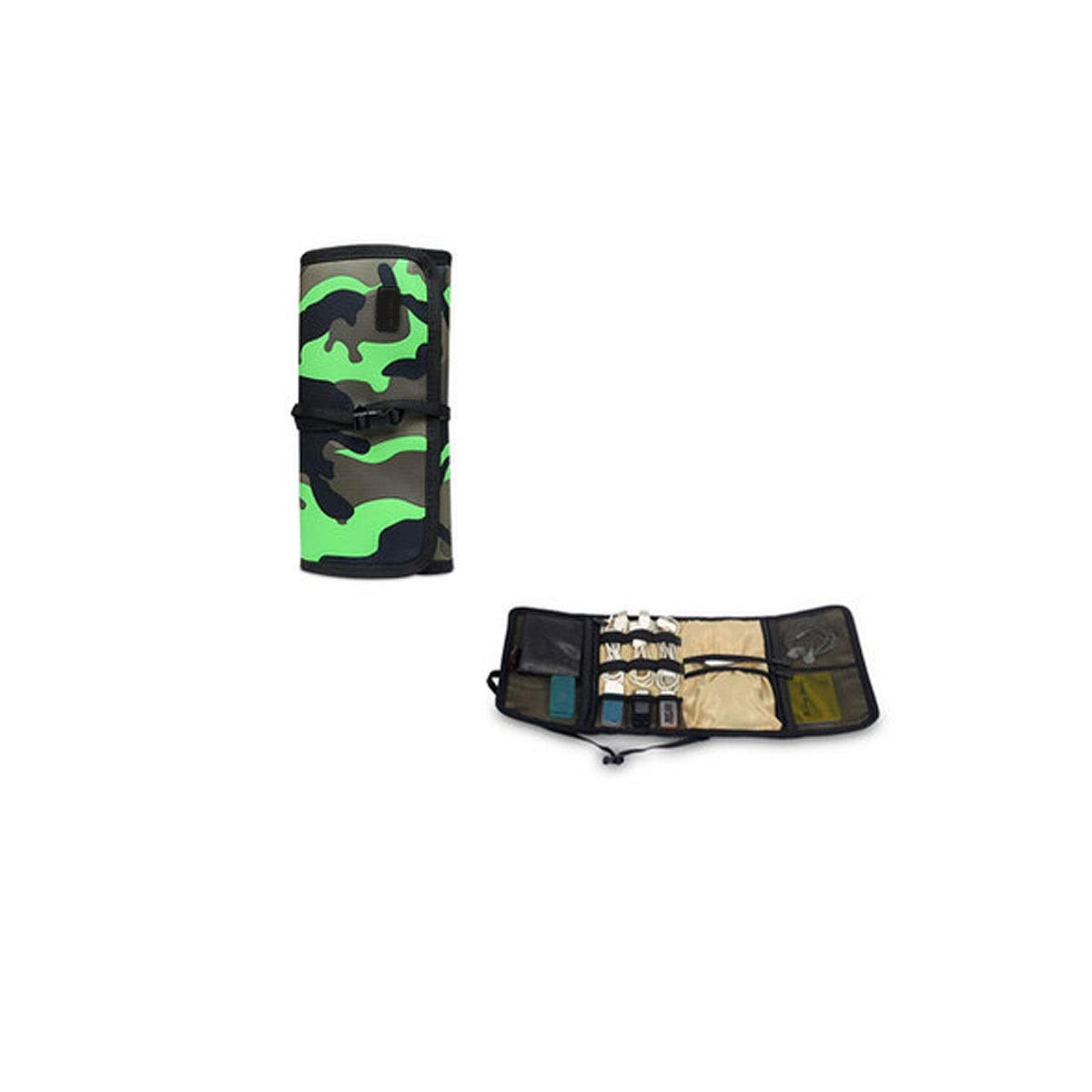 Huijunwenti Electronic Organizer,Cable Organizer,Data Cord Storage Bag, Mobile Power Charging Treasure Business Card Storage Bag, Mobile Hard Disk Package, Digital Travel Portable Folding Storage