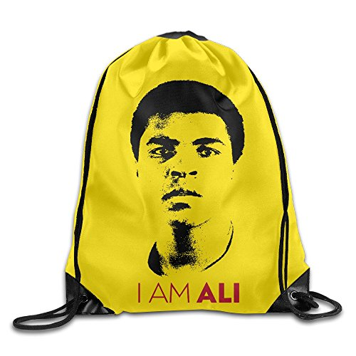 [TopSeller Muhammad Ali Drawstring Backpacks Bags For Unisex] (The Funniest Halloween Costumes)