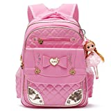 Ali Victory Bookbag Series Barbie Doll Adorable Princess School Backpack for Elementary Schoolgirls (Pink)