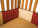 red and chocolate bedding - Trend Lab Northwoods Crib Bumpers, Red/Tan