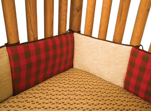 Trend Lab Northwoods Crib Bumpers, Red/Tan (Crib Separates Bedding)