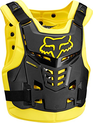 Fox Racing Proframe LC Roost Deflector-Black/Yellow-L/XL by Fox Racing